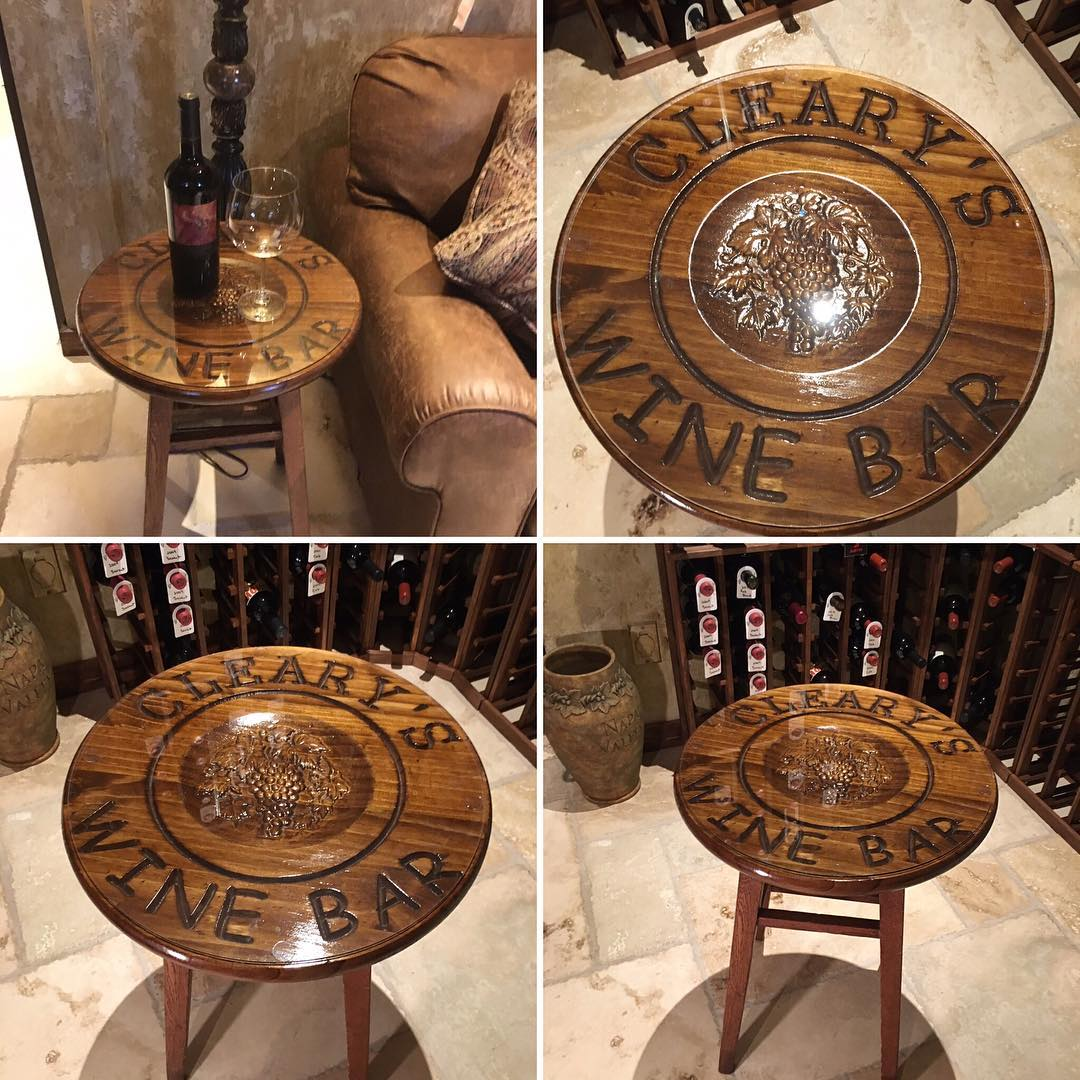 Clearys Wine bar table collage