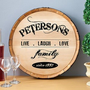 Personalized Wine Barrel Sign