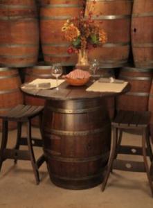 custom wine barrel bar and stools