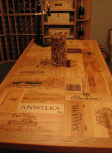 custom wine table