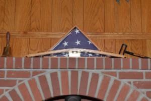 veteran flag and wine votive