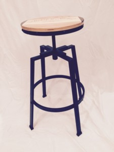 barstool with wrought iron