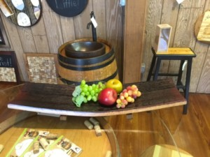 wine barrel platter sold near me