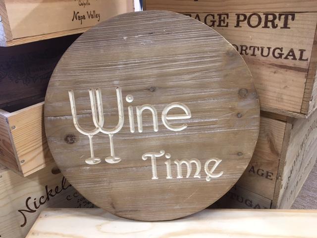 Wine Time Sign – Live Oak Wine Decor