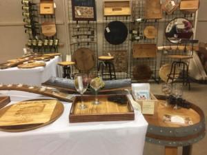 wine board, decorative wine themed tray, wine cork trivet, wine stave, wine candle holder